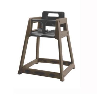 CSL 850BRN Stackable Plastic High Chair, Brown