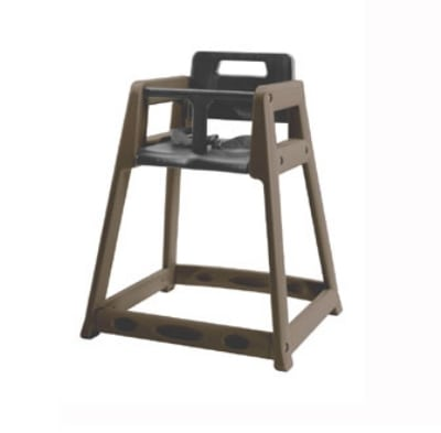 CSL 850C-BRN Plastic Stackable High Chair w/ Casters, Brown