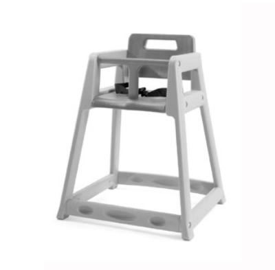 CSL 850C-DGY Plastic Stackable High Chair w/ Casters, Gray