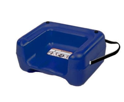 CSL 857BLU-1 Booster Seat w/ Seat Belt & Dual Height, Extra Wide Base, Blue
