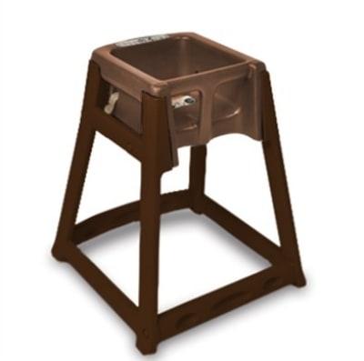CSL 866-BRN High Chair Infant Seat w/ Dark Brown Seat & Frame