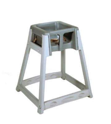 CSL 877DGY High Chair Infant Seat w/ Dark Gray Seat, Gray Frame