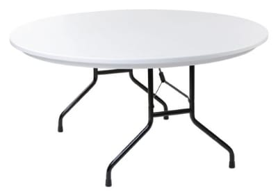 "Royal Industries CORBTP60R Folding Round Banquet Table, 60"" Diam., Granite Gray Finish"