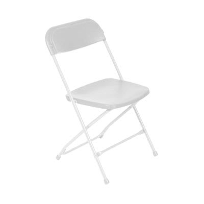 Royal Industries ROY 724 W Outdoor Folding Chair w/ Steel Frame, Plastic Seat & Back, White