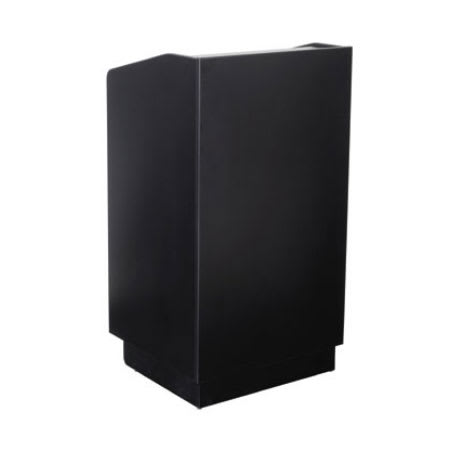 "Royal Industries ROY 734 B 46"" Assembled Podium w/ Casters & Black Melamine Finish"