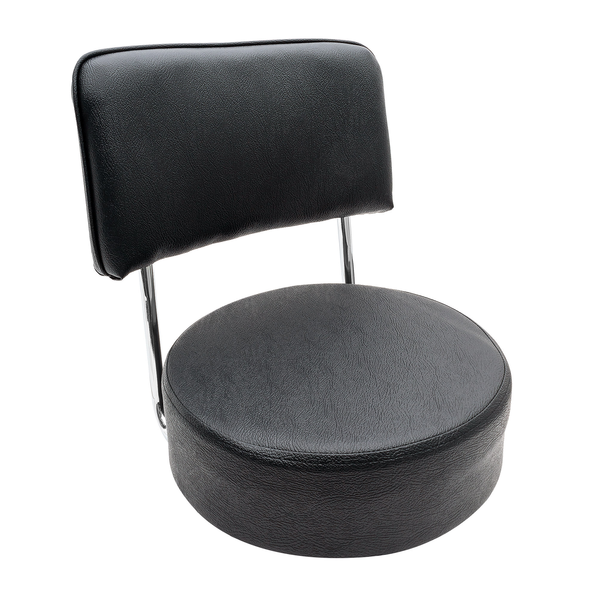 Royal Industries ROY 7715 SB Replacement Open Back Bar Stool Seat, Black