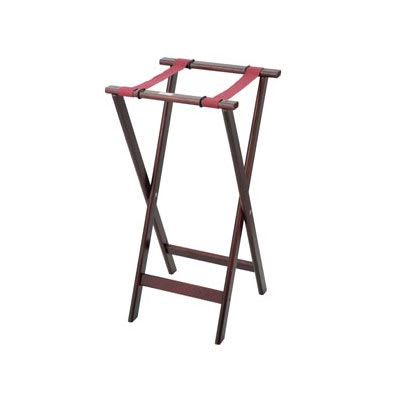 "Royal Industries ROY 772 38"" Wood Tray Stand w/ Walnut Finish"