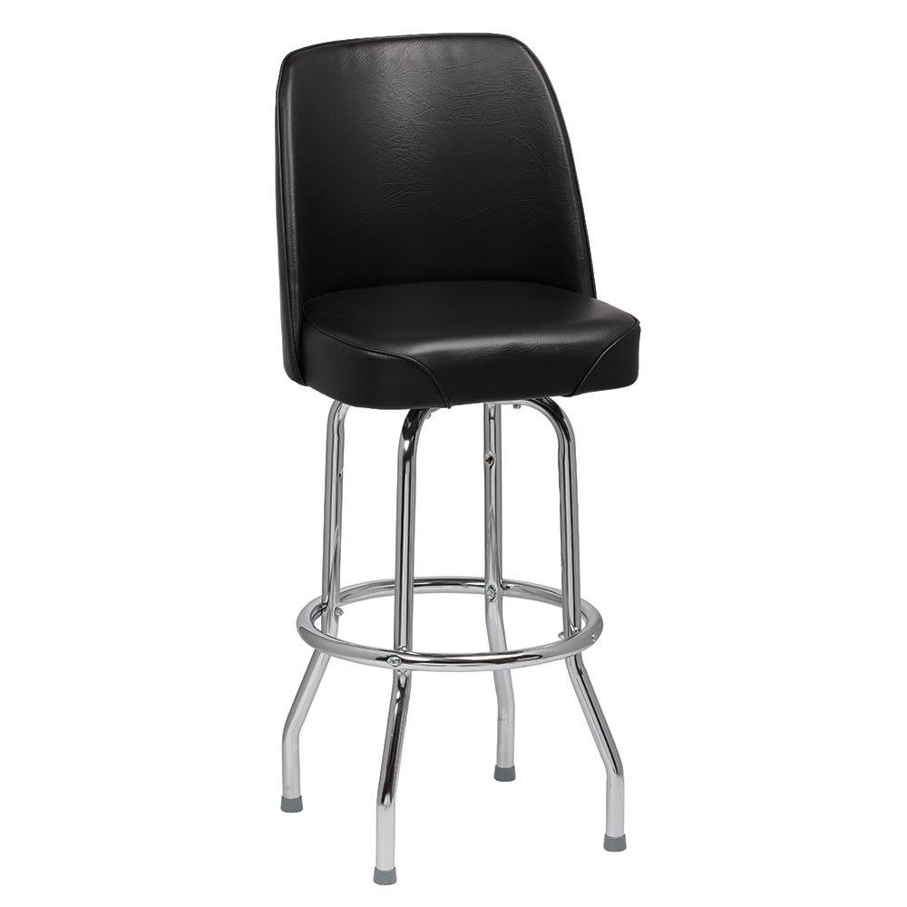 Miraculous Royal Industries Roy 7721 B Single Ring Bar Stool W Chrome Frame Black Vinyl Bucket Seat Machost Co Dining Chair Design Ideas Machostcouk