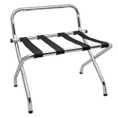Royal Industries ROY 779 Compact Chrome Luggage Rack w/ Guard
