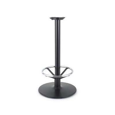 "Royal Industries ROY RTB 143 37.5"" Stand Up Table Base w/ Chrome Foot Rest & 22"" Round Base"