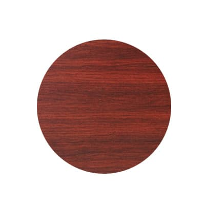 "Royal Industries ROY RTT BM 24 RT 24"" Round Reversible Black & Mahogany Wood Grain Table Top"