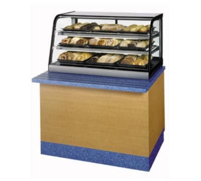 "Federal CD3628SS 36"" Countertop Non-Refrigerated Merchandiser, 3-Lift Up Front Door, Stainless"