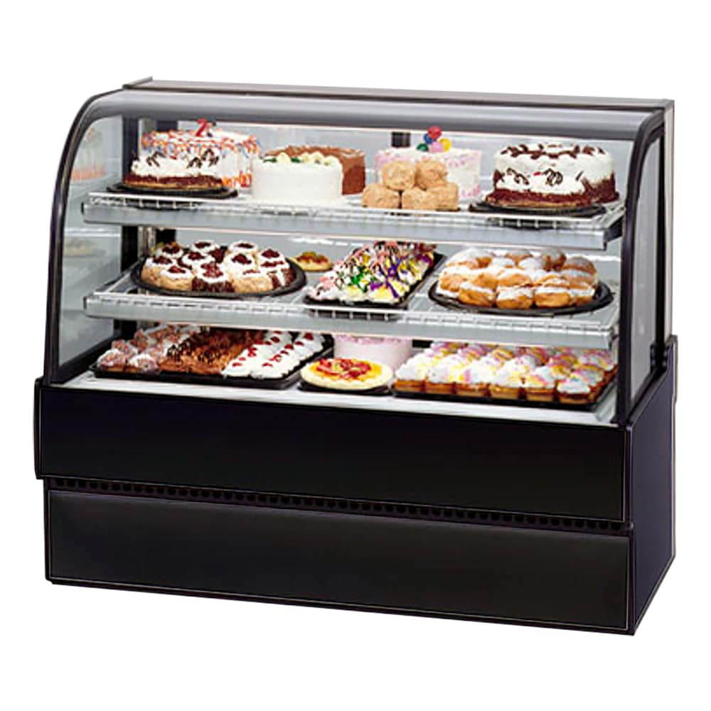 "Federal CGR5048 50"" Full Service Bakery Case w/ Curved Glass - (4) Levels, 120v"