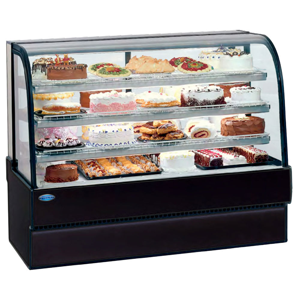 "Federal CGR7748 77"" Full Service Bakery Case w/ Curved Glass - (3) Levels, 120v"