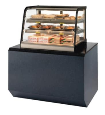"Federal CH2428SS 24"" Self-Service Countertop Heated Display Case w/ Curved Glass - (3) Levels, 120v"
