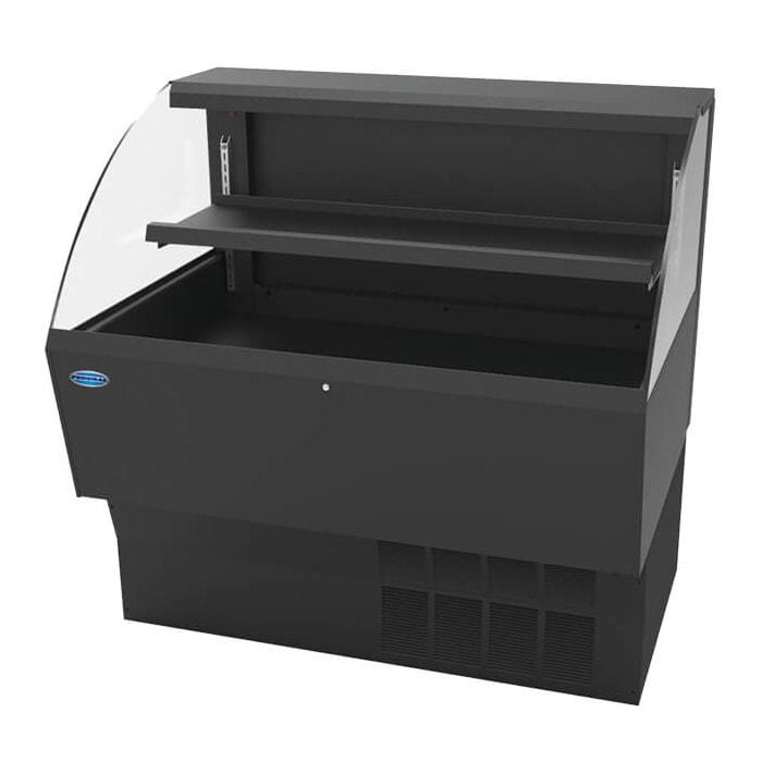"Federal ELPRSS-4 46.75"" Horizontal Open Air Cooler w/ (2) Levels - Black, 120v"