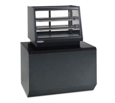 "Federal ERR-3628SS 36"" Countertop Refrigerator w/ Pass Thru Access - Sliding Door, Black, 120v"