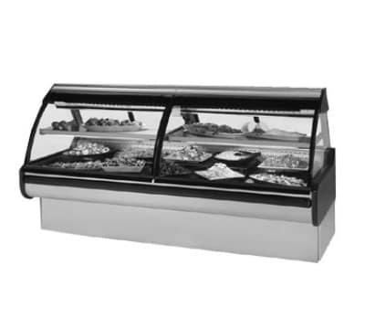 "Federal MCG-654-DC 74"" Full Service Deli Case w/ Curved Glass - (2) Levels, 115v"