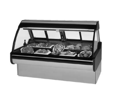 "Federal MCG-654-DM 74"" Full Service Deli Case w/ Curved Glass - (1) Levels, 115v"