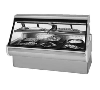 """Federal MSG-1054-DC 122"""" Full Service Deli Case w/ Curved Glass - (2) Levels, 120v"""
