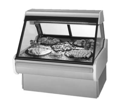 "Federal MSG-1054-DF 122"" Full Service Deli Case w/ Curved Glass - (1) Levels, 120v"