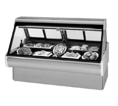 "Federal MSG-654-DM 74"" Full Service Deli Case w/ Straight Glass - (1) Levels, 120v"
