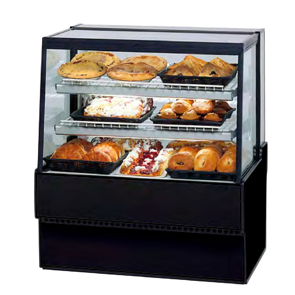 """Federal SGD3648 36"""" Full Service Bakery Case w/ Straight Glass - (4) Levels, 120v"""