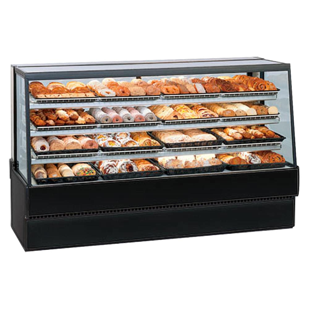 "Federal SGD7742 77"" Full Service Bakery Case w/ Straight Glass - (3) Levels, 120v"