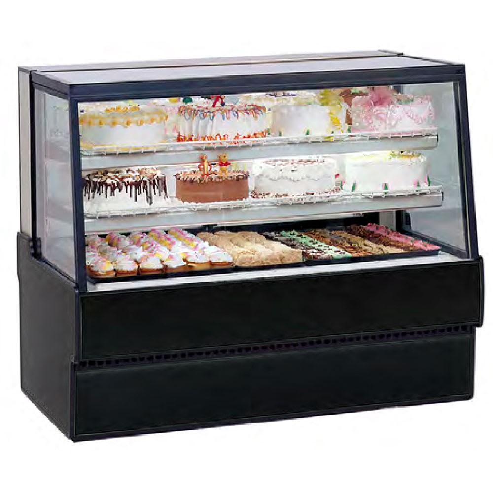 "Federal SGR5048 50"" Full Service Bakery Case w/ Straight Glass - (4) Levels, 120v"