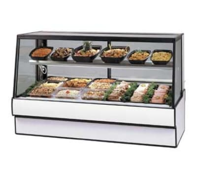 "Federal SGR5948CD BLK 59"" Sloped Thermopane Glass Refrigerated Deli Case, Black"