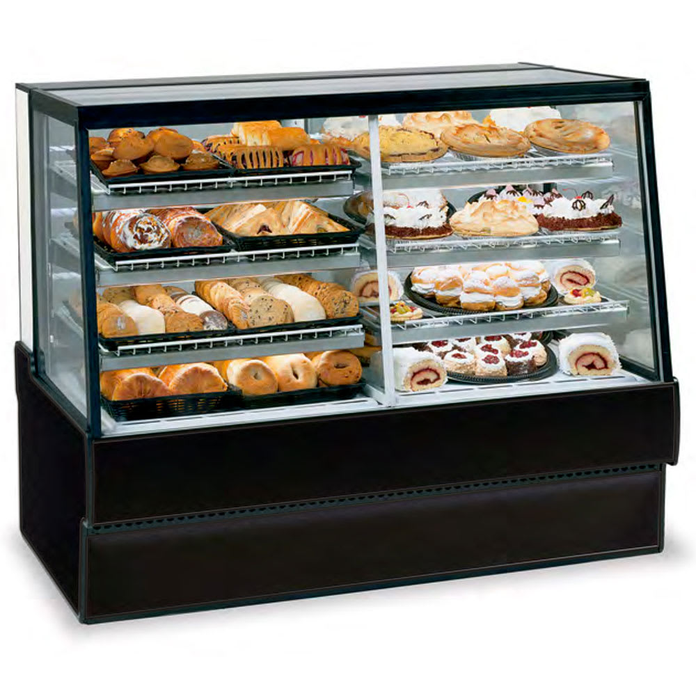 "Federal SGR7748DZ 77"" Full Service Bakery Case w/ Straight Glass - (4) Levels, 120v"