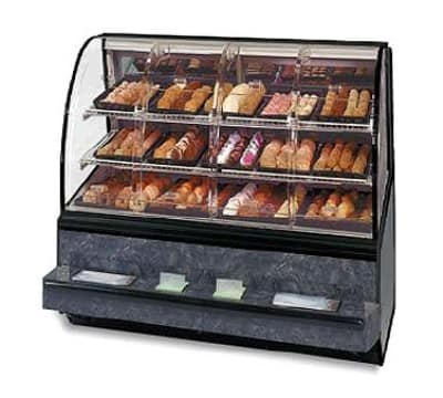 "Federal SN-48-SS 48"" Self Service Bakery Case w/ Curved Glass - (3) Levels, 120v"