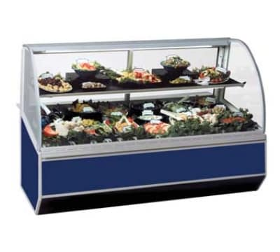 "Federal SN-8CD 96"" Full Service Deli Case w/ Curved Glass - (2) Levels, 120v"
