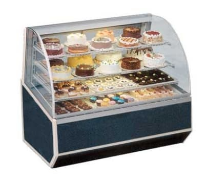 "Federal SNR-77SC 77"" Full Service Bakery Case w/ Curved Glass - (4) Levels, 120v"