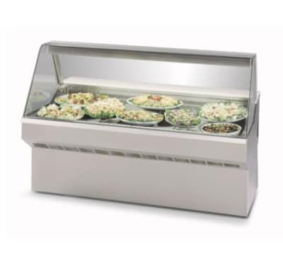 "Federal SQ-6CD 72"" Full Service Deli Case w/ Curved Glass - (1) Levels, 120v"