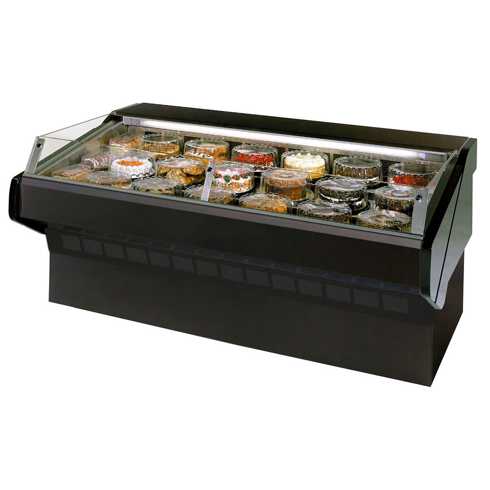 """Federal SQ-8CBSS 96"""" Refrigerated Self-Serve Bakery Case w/ Solid State, Black, 120v"""