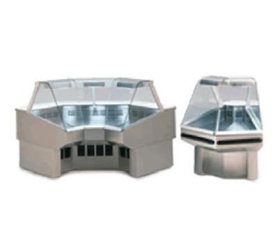 "Federal SQRIC90 54"" Full Service Deli Case w/ Curved Glass - (1) Levels, 120v"