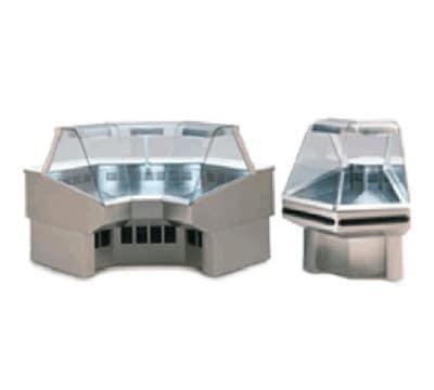 "Federal SQROC45R 50"" Full Service Deli Case w/ Curved Glass - (1) Levels, 120v"