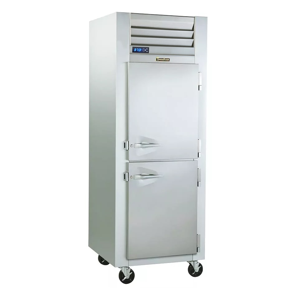 "Traulsen G10002P 30"" Single Section Reach-In Refrigerator, (2) Solid Door, 115v"