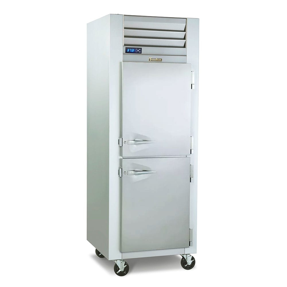 "Traulsen G10003P 29.87"" Single Section Pass-Thru Refrigerator, (2) Solid Doors, 115v"