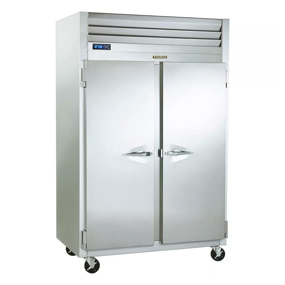 """Traulsen G20010R 53"""" Two Section Reach-In Refrigerator, (2) Solid Door, 115v"""