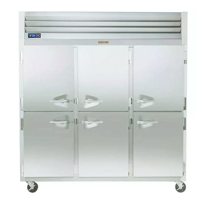 "Traulsen G30000 76.31"" Three Section Reach-In Freezer, (6) Solid Doors, 115v"