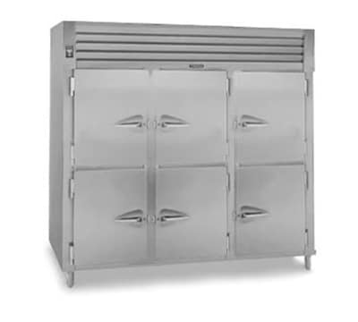 Traulsen RHF332WP-HHS Pass-Thru 3-Section Heated Cabinet w/ Half Doors, 208/115 V