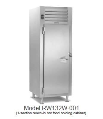 Traulsen RI132L-COR02 Correctional 1-Section Roll-In Heated Cabinet w/ Full Door, 208/115 V