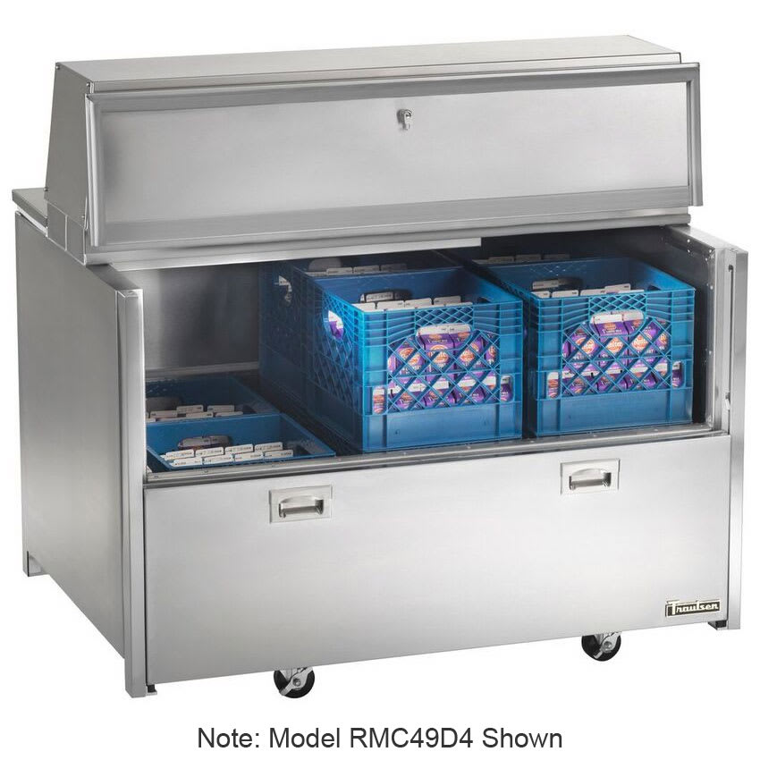 Traulsen RMC34D4 Milk Cooler w/ Top & Side Access - (512) Half Pint Carton Capacity, 115v