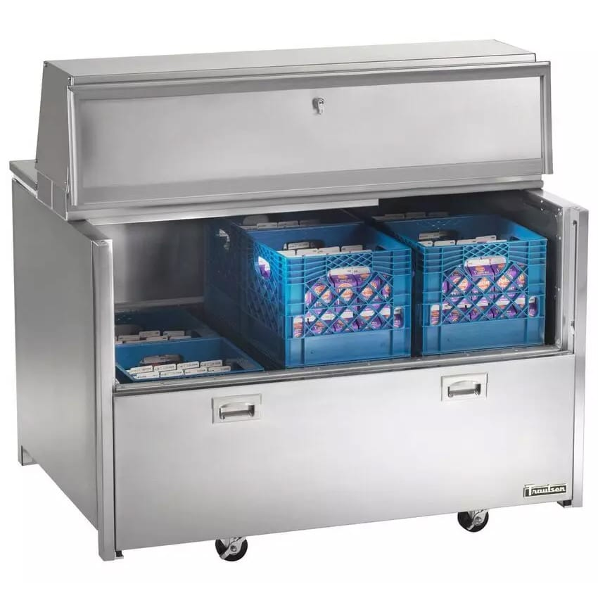 Traulsen RMC58S6 Milk Cooler w/ Side Access - (1024) Half Pint Carton Capacity, 115v