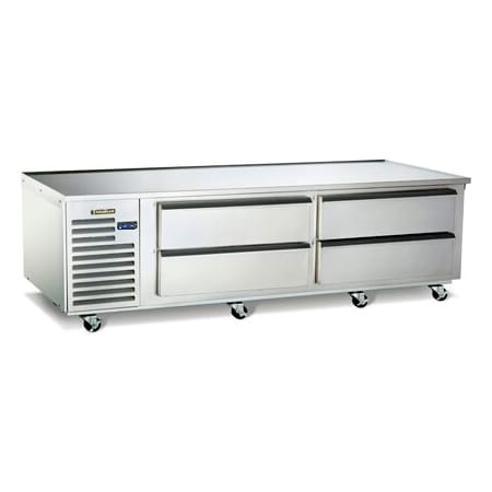"Traulsen TE072HT 72"" Chef Base w/ (4) Drawers - 115v"