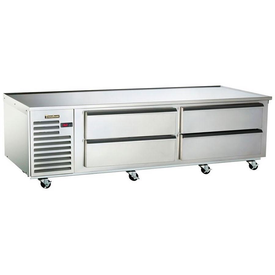 "Traulsen TE084HT 84"" Chef Base w/ (4) Drawers - 115v"
