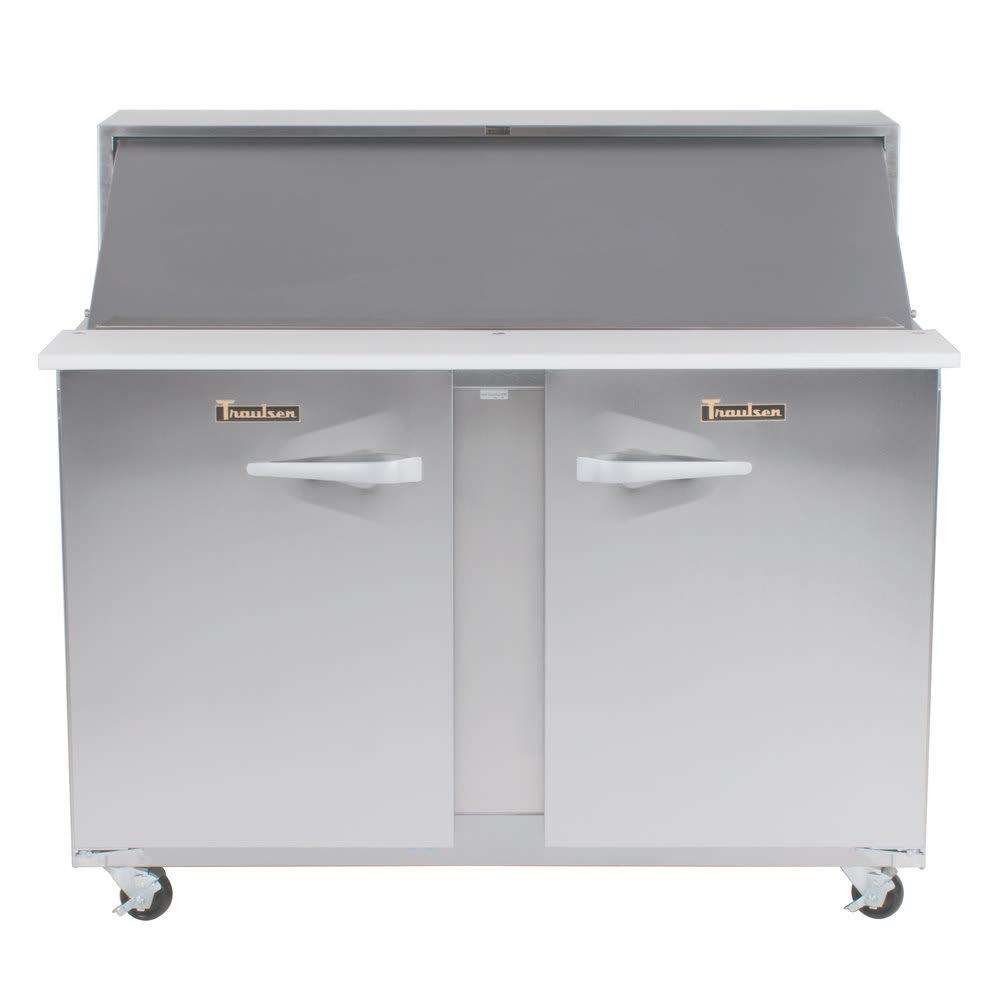 "Traulsen UPT4818-LR 48"" Sandwich/Salad Prep Table w/ Refrigerated Base, 115v"