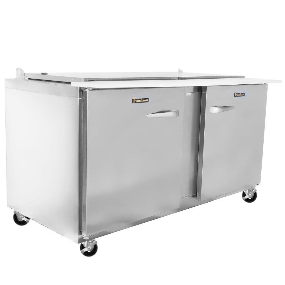 "Traulsen UST6024-LR 60"" Sandwich/Salad Prep Table w/ Refrigerated Base, 115v"